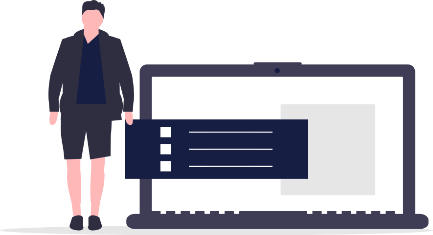 Guy with laptop Vector Image