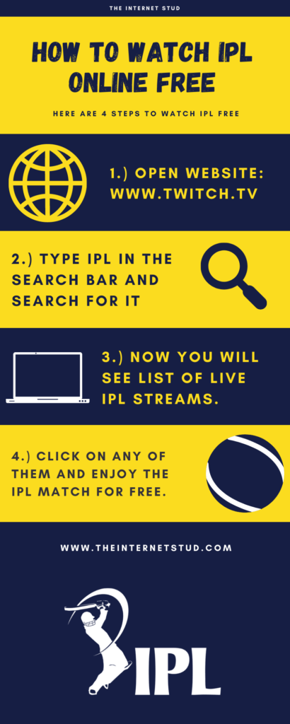 how to watch IPL free infographics