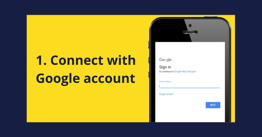 Connect with google account