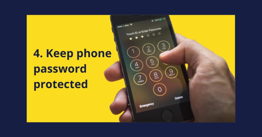 Add password to your phone to increase phone security