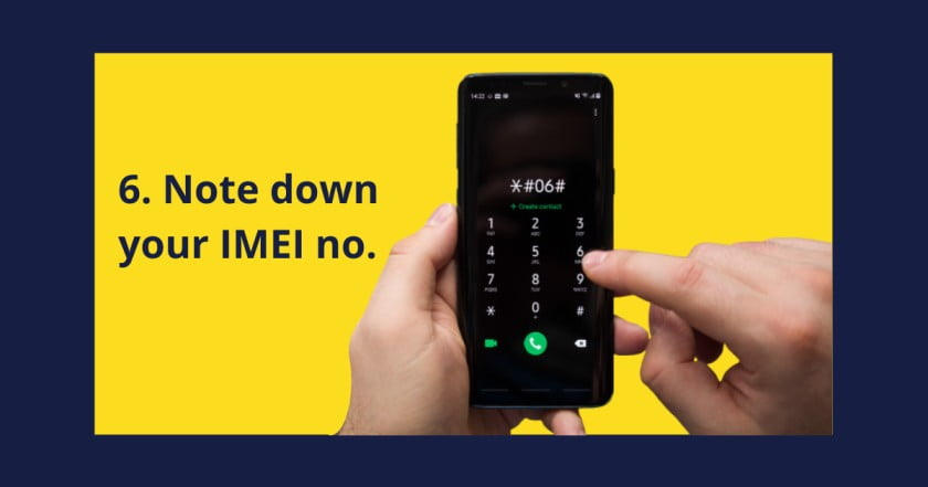 Note down your IMEI Number