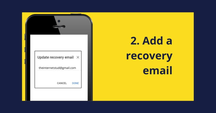 Add recovery email to increse you phone security